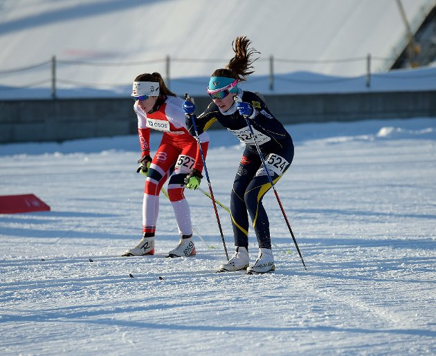 FJERDEPLASS: Helene Løken gikk tredjeetappen for BSKs førstelag på stafetten i J13-14 årsklassen.