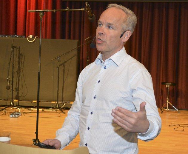 Sa nei: Jan Tore Sanner (H) ville ikke møte Smaalenenes Avis for å snakke om kommune- reformen.
