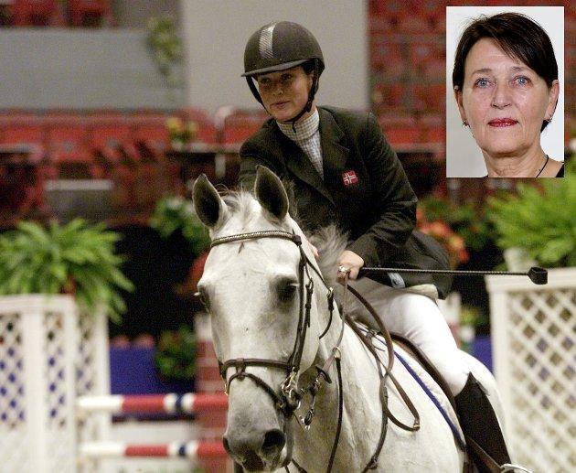 Prinsesse Märtha Louise under Oslo Horse Show i 1999. Nå reklamerer prinsessen for pengespill på hest.