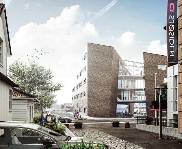 PORTALBYGGET: Innsenderen har meninger knyttet til Høyres forslag om bibliotek i det planlagte bygget i havna.