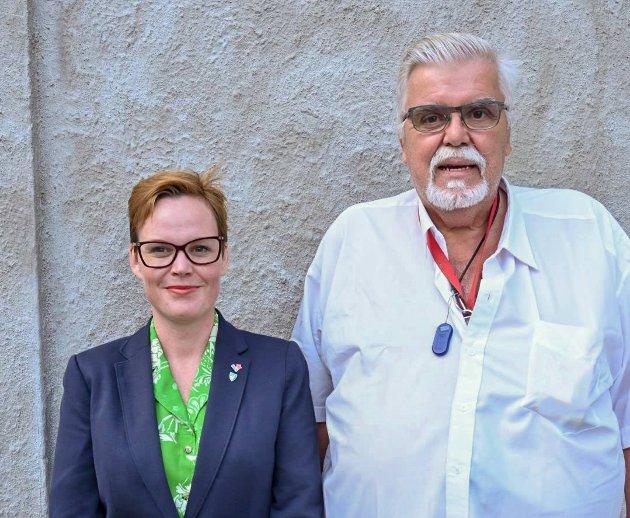 Stein Kristiansen og Silje Alise Ness, hhv. 1. kandidat og 2. kandidat til Stortinget for Rødt Møre og Romsdal.