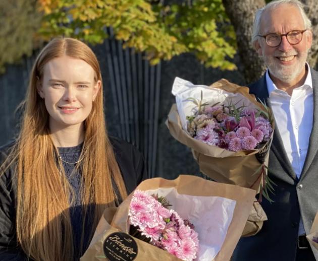 Ingrid Åmlid (2.kandidat) og Carl-Erik Grimstad (1.kandidat)