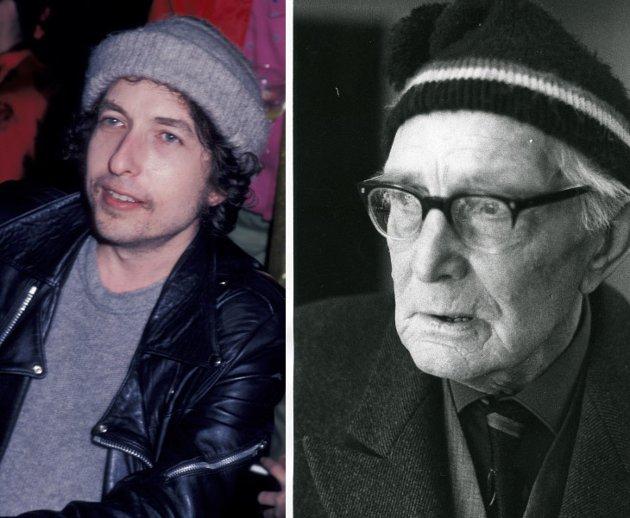 Trubadurar: Bob Dylan og Anders Underdal med kvar si toppluve og nesten same song ein gong.   https://www.needsomefun.net/wp-content/uploads/2021/03/1-Bob-Dylan-22nd-Annual-Grammy-Award-party.jpeg  https://digitaltmuseum.no/021017908467/anders-underdal-ulnes-nord-aurdal/media?slide=0