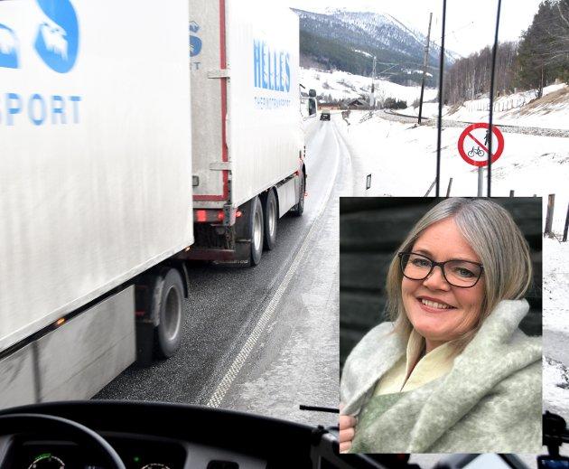 RIKTIG: Høyre-kandidat Kari-Anne Jønnes lokker med bedre E6 i Gudbrandsdalen. Veg har vært valgflesk hver fjerde vår i mange år.