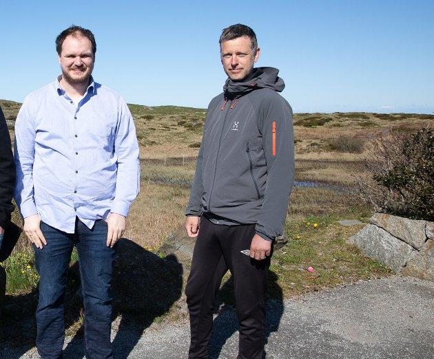 David Herlev-Moen og Jan-Erik Timm i MDG Sola.