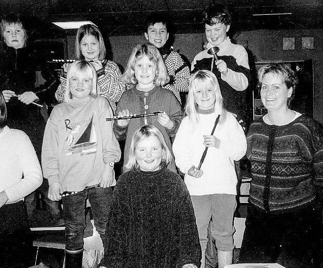 Disse unge var aspiranter til Kragerø Skolemusikkorps.