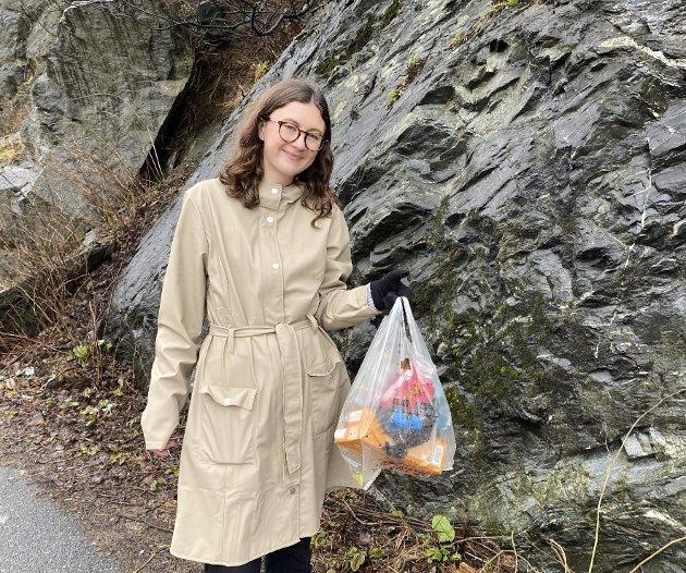 Tonnevis av plast i havet: Hedda Wike tar opp et aktuelt tema. Foto: Privat