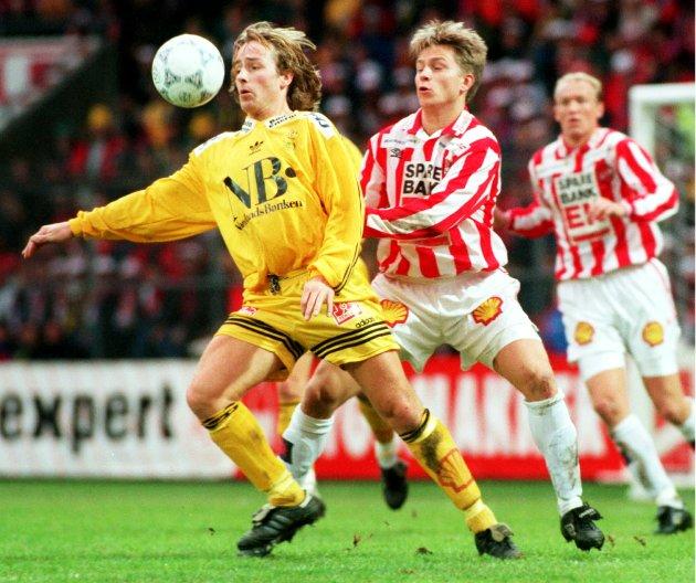 1996: Stig Johansen i cupfinalen mot Tromsø, en kamp Glimt tapte 1-2.