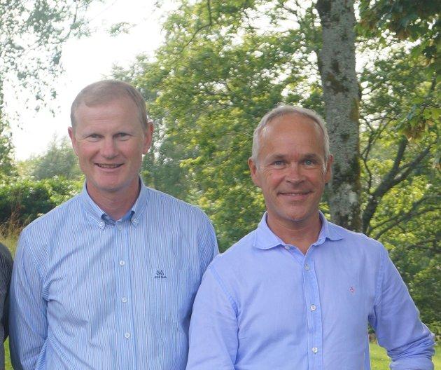 Erlend Larsen og Jan Tore Sanner