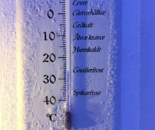 Gnallerfrost på Vollstad i Mosjøen 26,5 minusgrader