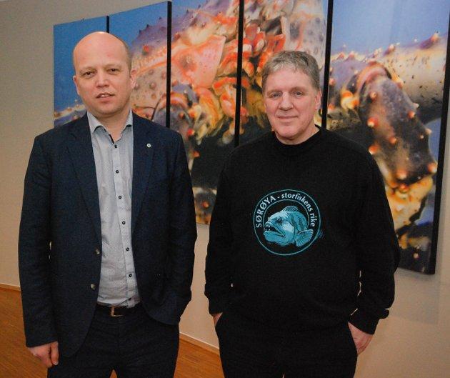 Trygve Slagsvold Vedum og Geir Adelsten Iversen.