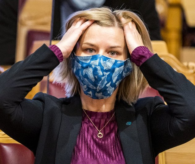 Kunnskaps- og integreringsminister Guri Melby (V) varsler nå at skolene må gjennomføre langt mer omfattende smitteverntiltak i kampen mot muterte virus.foto: håkon mosvold larsen, ntb