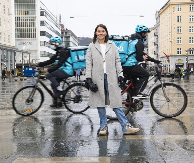 Elisabeth Stenersen er daglig leder for plattformøkonomi-selskapet Wolt i Norge. Hun sier til Klassekampen at dagens norske regelverk for ansettelser ikke er tilpasset deres arbeidsform. Noe det heller ikke bør bli. Arkivfoto: Emil W. Breistein