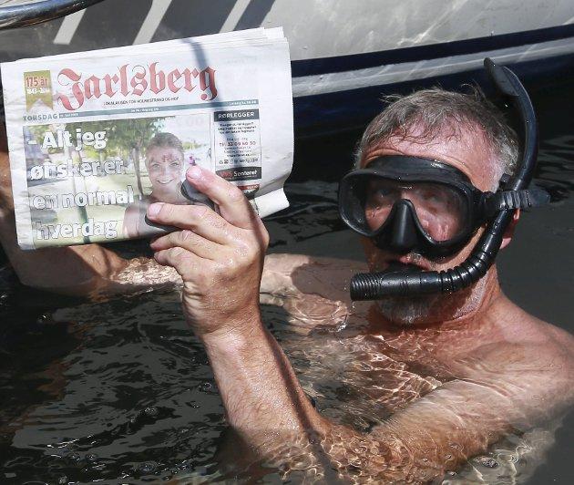 Tore Kristiansen, Asker – Den er såpass viktig at jeg avbryter båtvasken. Må jo ha med meg siste nytt.