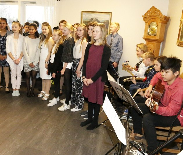 Flott: Stødige unge musikere gjorde det til en musikalsk fest.