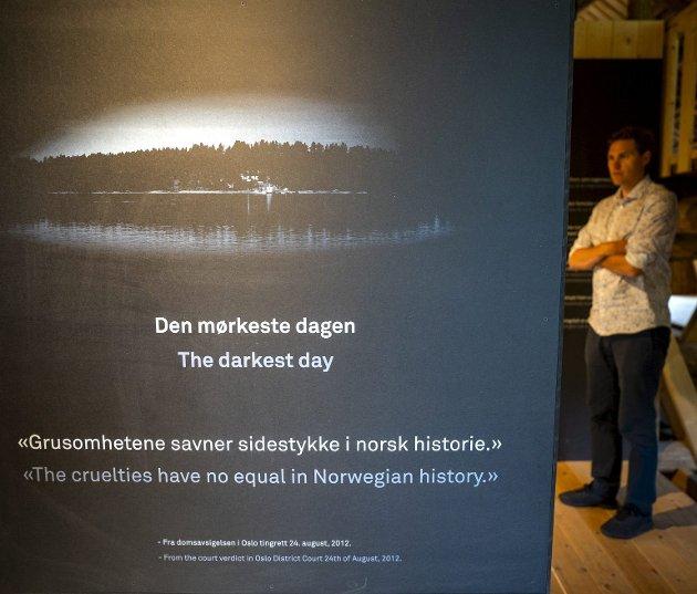 Samfunnet må ta et oppgjør med tankegodset bak terroren 22. juli, og utvikle strategier for at terroren ikke rammer oss igjen. På bildet ser vi Jørgen Watne Frydnes, daglig leder for Utøya, på en tiårsmarkering.