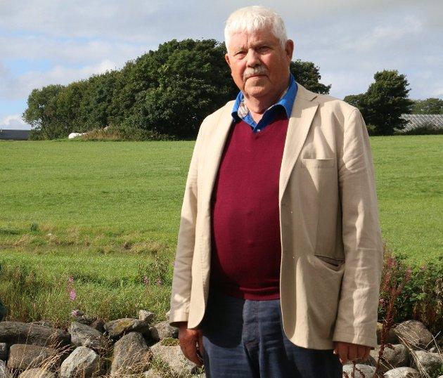 JORDVERN: Tarald Oma sr meinar at Time kommune ikkje gjer nok for å bevare matjorda.