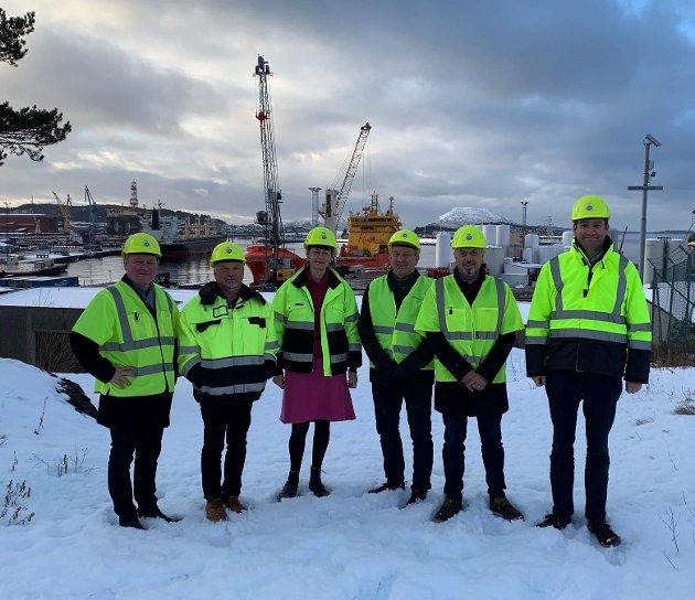 Flora Venstre på bedriftsbesøk på Fjord Base i januar 2019.