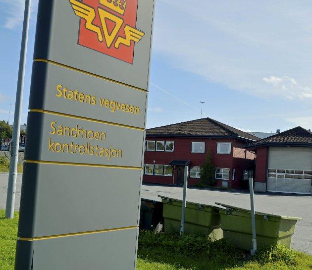 Sandmoen kontrollstasjon Trondheim. Statens vegvesen