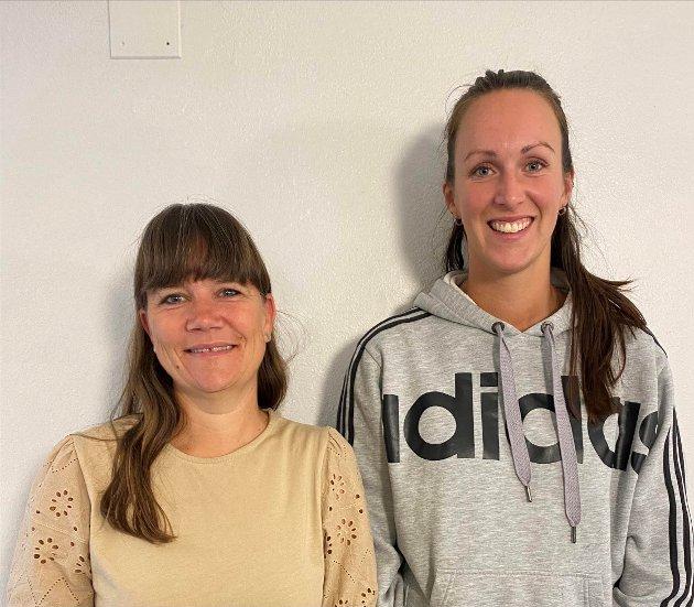 ENGER SKOLE: Marianne Aasengen (t.v.) og Eline Christensen Strand