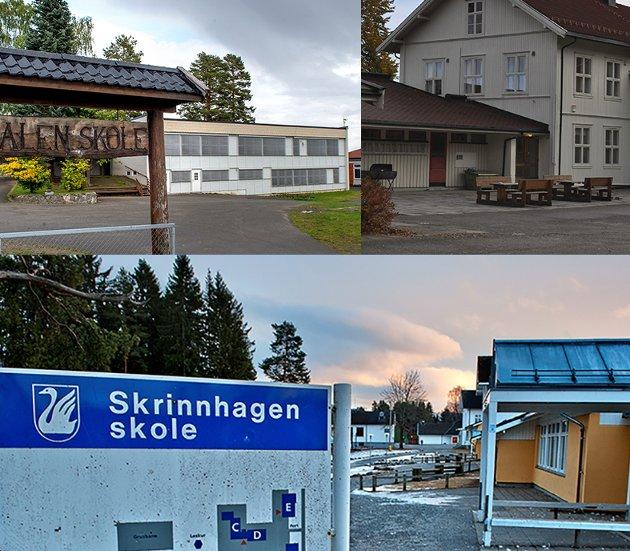 Blir en?: Skal det bygges en skole til erstatning for Redalen, Biristrand og Skrinnhagen på Biri - og betyr det i realiteten nedleggelse av de to førstnevnte? Politikerne vil i det lengste unngå å ta en beslutning, som uansett hva de gjør blir upolpulær.Arkivbilder