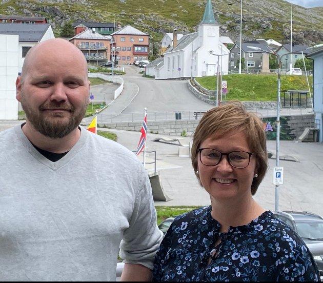Heidi Holmgren og Ole Indrøy i Nordkapp Senterparti