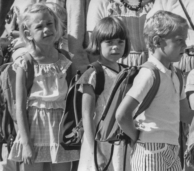1.klassinger ved Mysen skole i 1984.