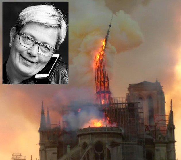 Mandag kveld fulgte mennesker over hele verden Notre-Dames nyttesløse kamp mot flammenes rov. En trist inngang på påskehøytida, skriver redaktør Sissel Skjervum Bjerkehagen.