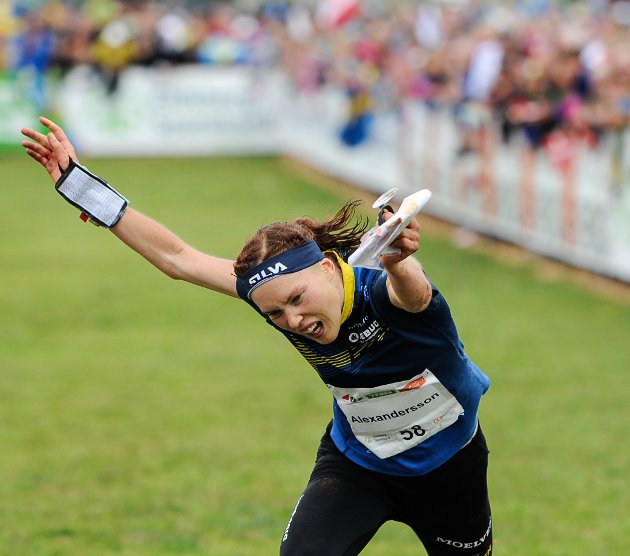 STUPTE TIL GULL: Tove Alexandersson, Sverige vant et nytt VM-gull.