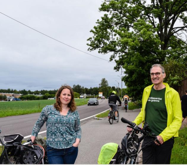 Julie Estdahl Stuestøl sammen med MDGs førstekandidat Harald Moskvil