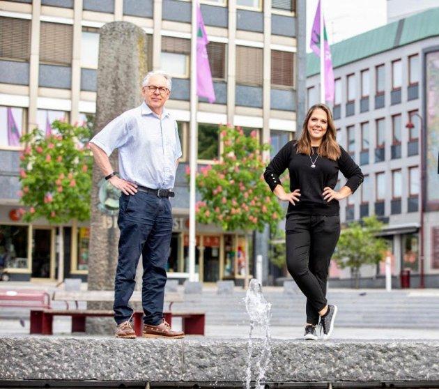 Lene Camilla Westgaard-Halle og Henning Wold - stortingskandidater for Høyre