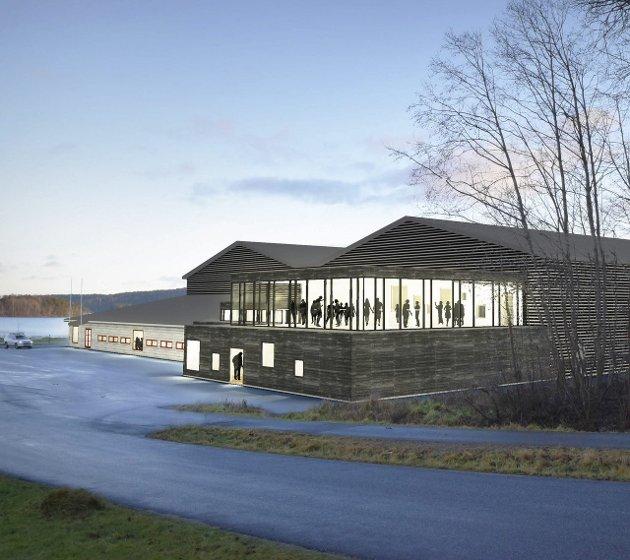 Nye Tistedalshallen: Slik blir en utvidelse av Tistedalshallen seende ut. Illustrasjon: SG Arkitekter