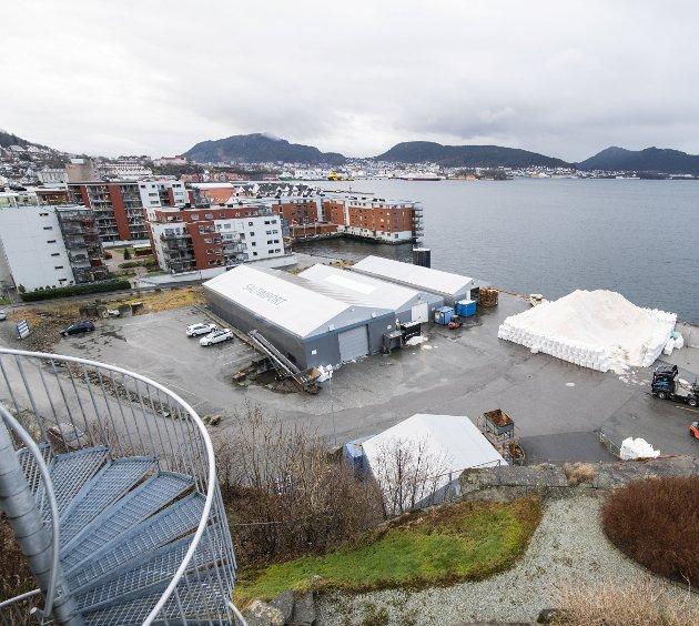 Kommunen har foreslått å lage en fraktetunnel fra Fløyfjellstunnelen til Saltimport-tomten. FOTO:  Arne Ristesund