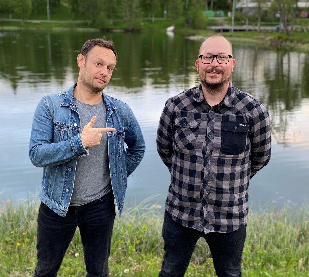 Torgeir Knag Fylkesnes sammen med Kay Erling Ludvigsen ved Finnsnesvannet i Senja kommune. Ludvigsen skriver at han støtter sin partikollega på sin vei mot Stortinget.