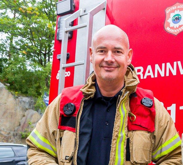 Jan Olav Lundberg er utrykningsleder og tillitsvalgt ved Risør brannvesen.