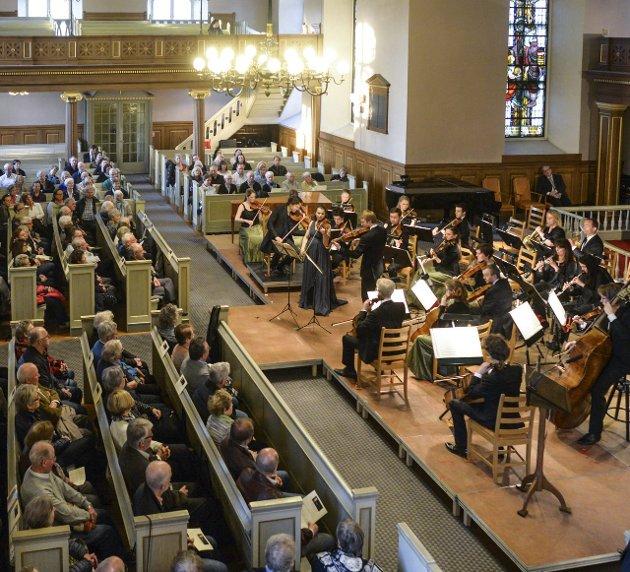 Engasjert: Ifølge vår anmelder ble det musisert på en engasjert måte ved åpningskonserten. Foto: Kent Inge Olsen