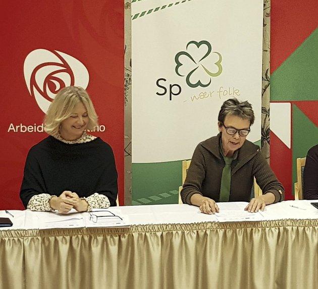 Formelt valgt: Tove-Lise Torve er klar til å ta fatt. T.h. Kristin Sørheim, som skal lede samferdselsutvalget.