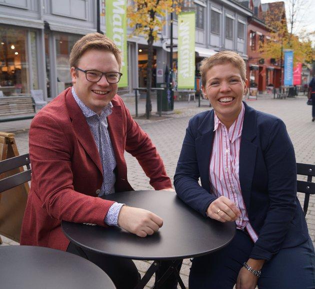 Toppduoen til Innlandet Arbeiderparti: Even Aleksander Hagen og Kjerstin Lundgård.