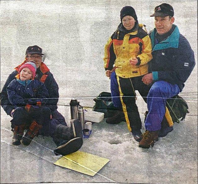 Espen Tenden, Einar Tenden, Arne Lorentzen og Odd Einar Tenden gledet seg om å fiske på Årungen.