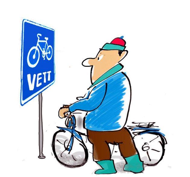 Bruk sykkelvett, ta hensyn i trafikken, oppfordrer en leser.