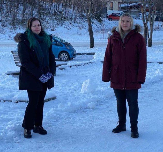 Maija M. Tangen (tv) og Chanice Sørlie Johansen ønsker flere med på karrieredagen.