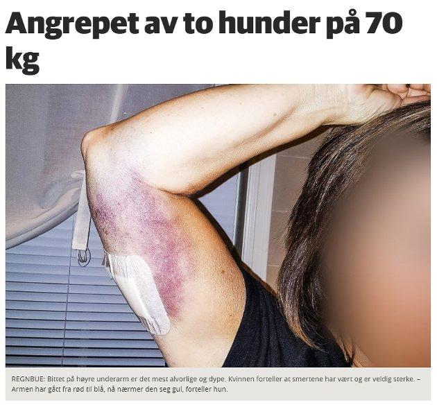 Skjermdump fra bygdeposten.no 17. november 2017.