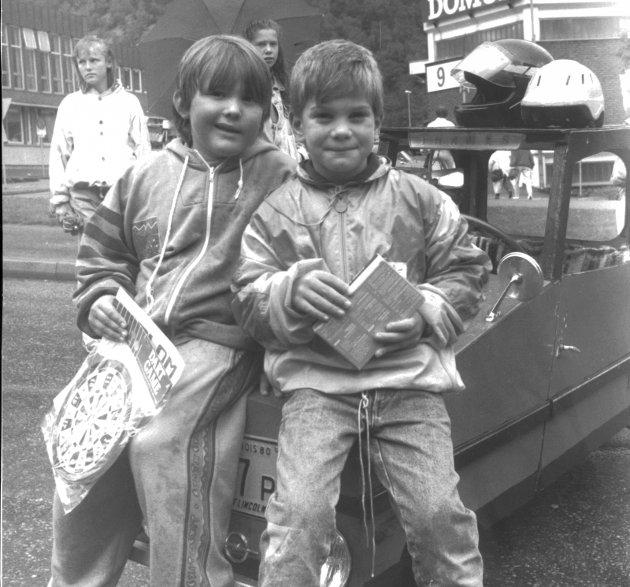 1990: Vinnere  av kassabilløpet i 1990 ble Tor G. Westerheim og Stein T. Varberg.