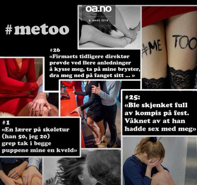 Fjorårets magasin der OA-leserne forteller sine #metoo-erfaringer.