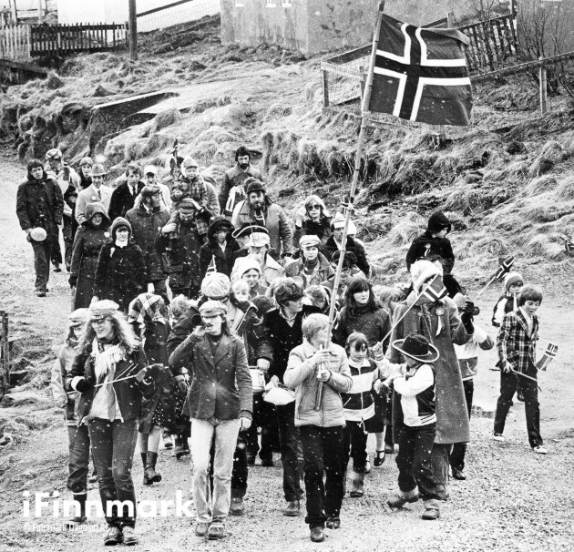 Lette snøbyger. 17.05.1980.