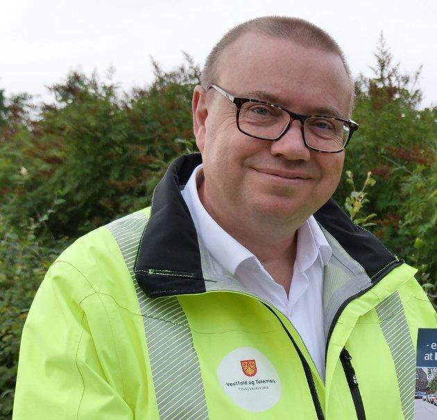 Arve Høiberg, leder for hovedutvalg for samferdsel i Vestfold og Telemark fylkeskommune