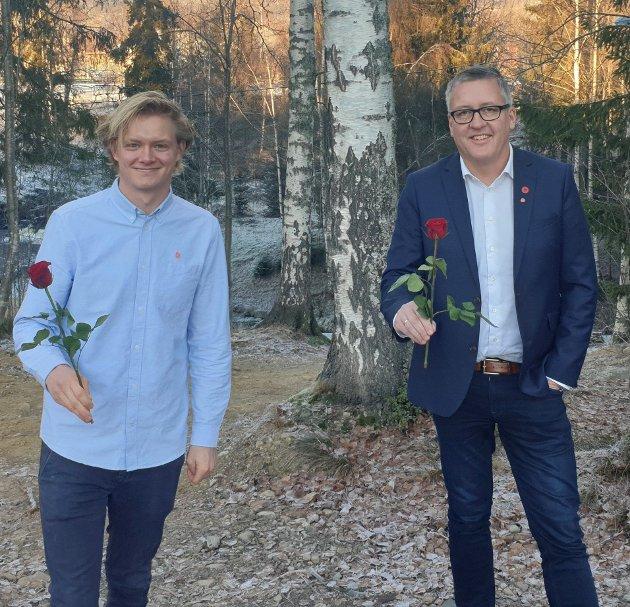 OPPGAVER: - Overføring av oppgaver fra sykehusene til fastlegene har vært ønskelig, men det har ikke fulgt mer ressurser med oppgavene, påpeker Aps stortingskandidater Anders Brabrand (t.v) og Rune Støstad