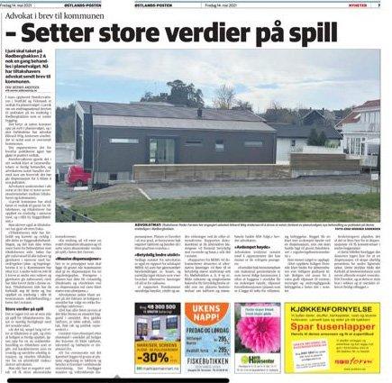 REAGERER: Klagerne i Møllebakken reagerer på det advokaten skriver til kommunen. Saken sto i ØP 14. mai.