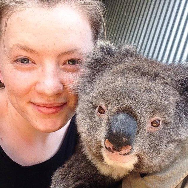 FERIE: Amanda Rygg fra Skarnes er ferdig med sitt første semester i Australia.