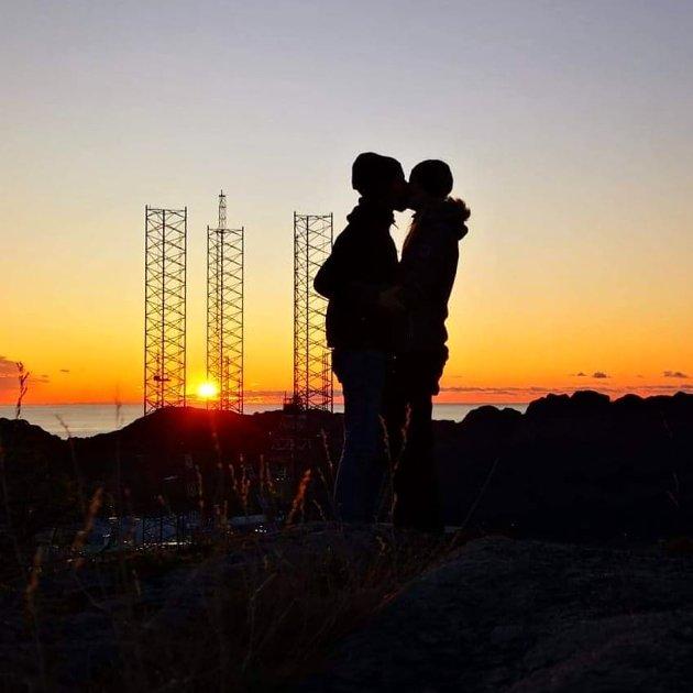 LITT ROMANTIKK, TAKK: Kjærligheten blomstrer, også om høsten.